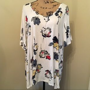 Maurices 24/7 floral top. Strappy back. Size 3